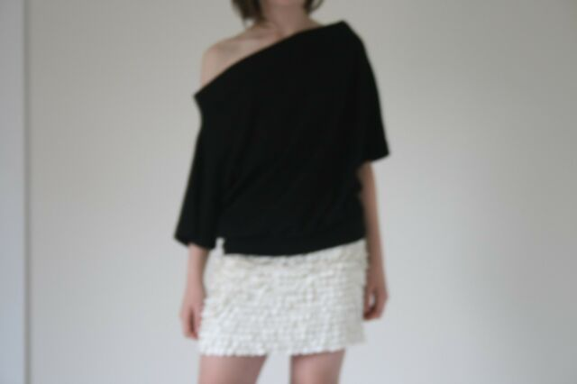 XS Country Road off the shoulder black top stretch