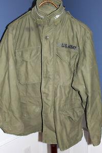 Original-Vietnam-War-U-S-Army-M-1965-Field-Coat-w-Hood-1967-d-Size-Reg-Med