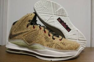 best service 9573e 95070 Image is loading DS-Nike-Basketball-Lebron-10-EXT-QS-Cork-