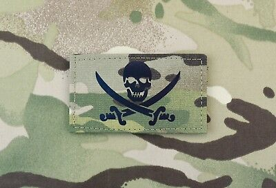 Calico Jack Infrared Multicam Call Sign Patch IR Jolly Roger Special Forces SEAL