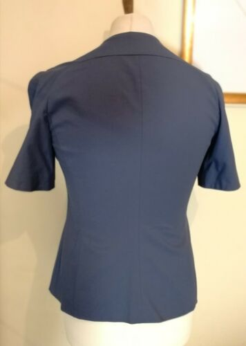 Ash Uk 14 Emporio Armani Womens Blazer Blue Shortsleeve Jacket Taglia Ita 46 qX1fvSXw