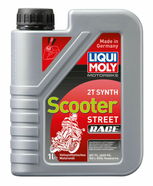 Aceite Sintetico Para Scooter Liqui-Moly Motorbike 2T Synth Scooter Street Race