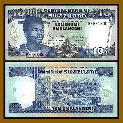 Swaziland 10 Emalangeni 1-4-2006 Pick 29.c UNC Uncirculated Banknote