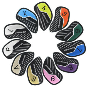 Colorful-11PCS-PU-Leather-Golf-Iron-Head-Covers-Club-Putter-Headcovers-4-LW-Set