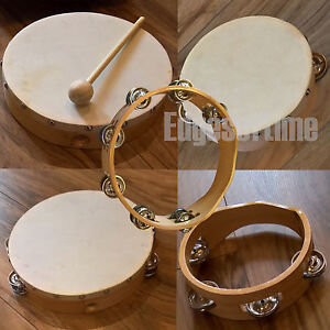 WOODEN TAMBOURINES AND HAND DRUMS PERCUSSION MUSICAL INSTRUMENTS