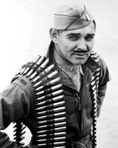 CLARK-GABLE-AS-A-MEMBER-OF-THE-U-S-ARMY-AIR-FORCE-8X10-PHOTO-DA884