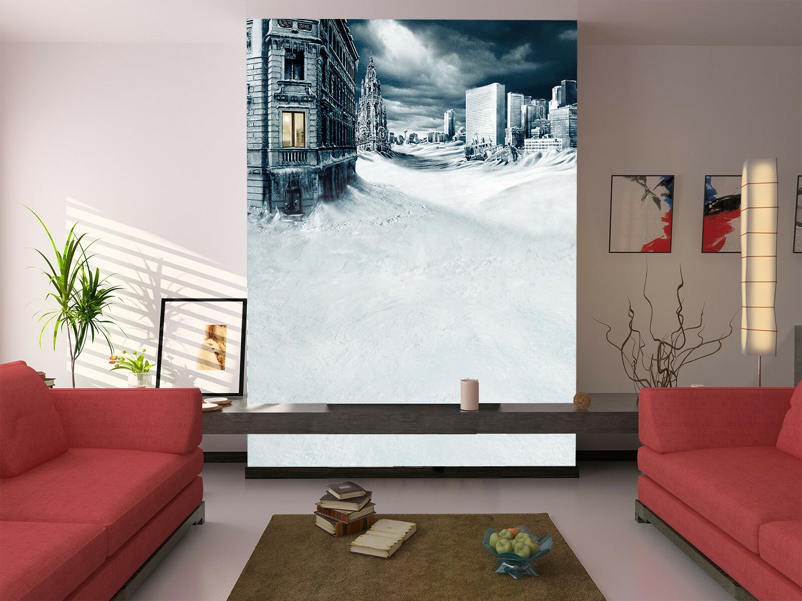 3D Sky House Snow 724 Wallpaper Mural Paper Wall Print Wallpaper Murals UK Lemon