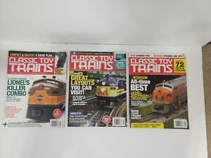 Classic-Toy-Trains-Magazines-Lot-3-ISSUES-Collectors-Vol-32-Issue-4-5-6-Lionel