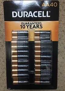 40 Count Duracell AA Alkaline Batteries (new)