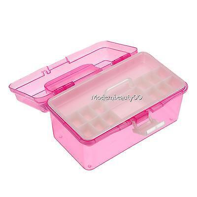 Multi Plastic Empty 2 layer Storage Case Box Nail Art Craft Makeup Collection