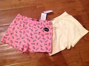 2 Paires Summer Cotton Short Bow Ananas Rose Jaune Early Days Primark 18-24-afficher Le Titre D'origine Belle Qualité