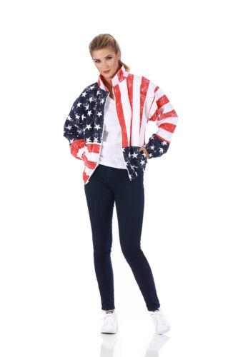 American flag zip-up jacket