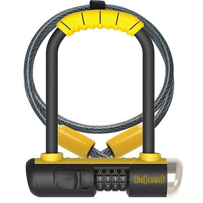 "OnGuard Bulldog 8012C Combo DT U-Lock  /&4 FT Cable Bike Double Locking 9/"" x 4.5/"""