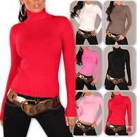 Damen Rollkragen Pullover Sweatshirt Sweater Pulli Größe 32 34 36 38 Neu