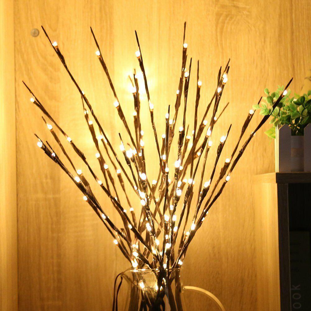LED Willow Tree Branch Light For Garden Home Decor Lamp Warm Fairy Lights