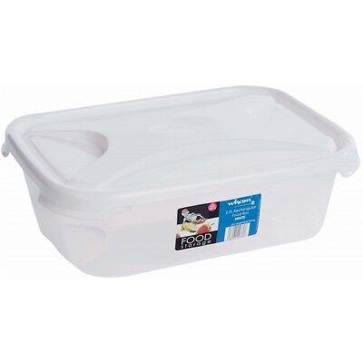 2.7l Rettangolare Bianco Alimenti Storage-wham In Plastica Contenitori Porta Pranzo Cucina-