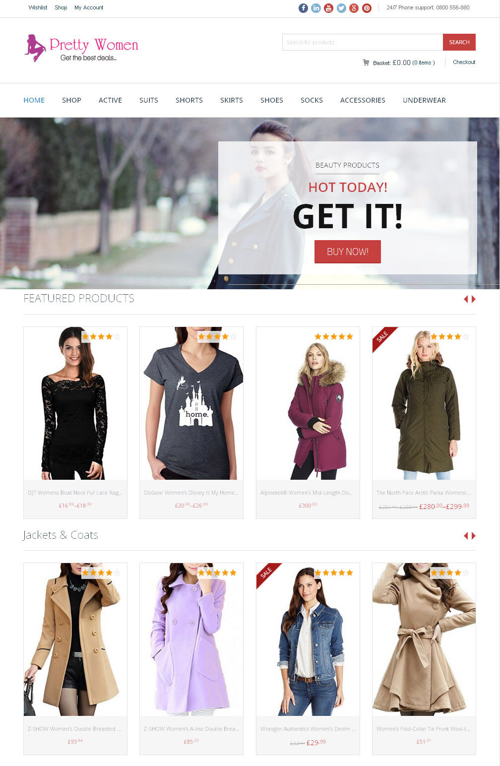 Women's Clothing Store + The Best Amazon Affiliate Website + Free Hosting 1