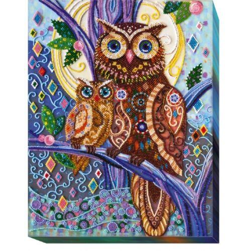 Beaded Embroidery Kit Owl Beaded stitching Bead needlepoint Beadwork DIY
