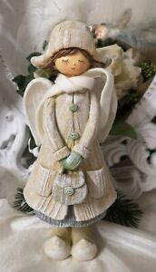 Engel Deko Figur Windlicht Kerzenhalter Metall Weihnachten Christmas  Shabby