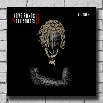 X851 Lil Durk Love Songs 4 the Streets 2 Rap 2020 Mixtape Fabric Poster 32 24x24