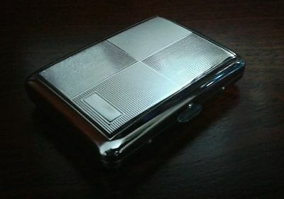 Engraved Silver Design METAL CIGARETTE CASE.....  Holds 16 Cigarettes, cigerette