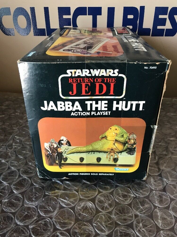 Vintage 1983 Kenner Star Wars Never redJ Jabba The Hutt MIB - Never Wars Opened 57ae58
