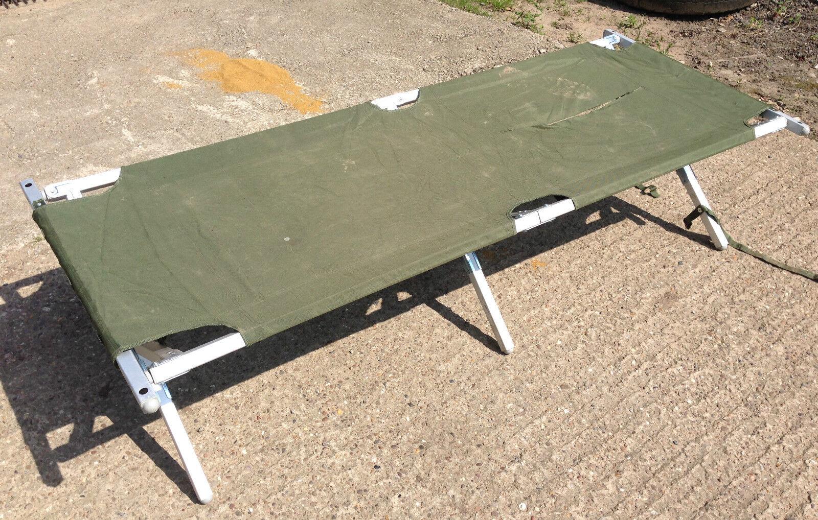 British Army Heavy Duty Aluminium Folding Camp Bed Latest Issue DAMAGED COVER!!