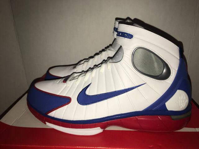7d3b5b080461d Mens Nike Air Zoom Huarache 2k4 All Star Retro Kobe White Blue Red ...