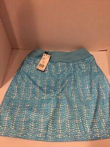 Adidas-Golf-Women-039-s-Skirt-Size-XSL-Teal-And-White