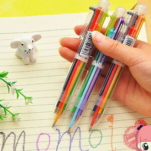 6-Colors-0-5mm-Oily-Ink-Ballpoint-Office-School-Smooth-Writing-Ball-Pens-Fancy