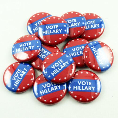 Subtle Campaign Button Hillary Clinton 1 Inch Pinback Lot of 12 Lapel Pin