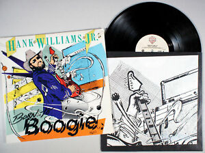 Hank-Williams-Jr-Born-to-Boogie-1987-Vinyl-LP-PLAY-GRADED-Young-Country