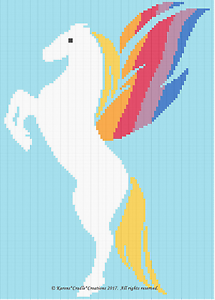 PEGASUS Colorful Graph Afghan Pattern *EASY Crochet Patterns