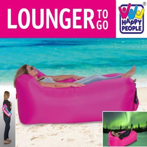 LOUNGER TO GO Luftsofa Sitzsack Luftsack aufblasbare Strand Liege Matratze PINK