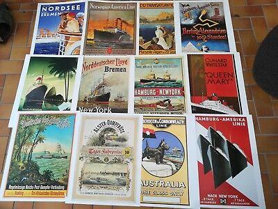 Herrlich Historische Schiffsplakate Aus Einem Großkalender 12 Poster Gesundheit FöRdern Und Krankheiten Heilen