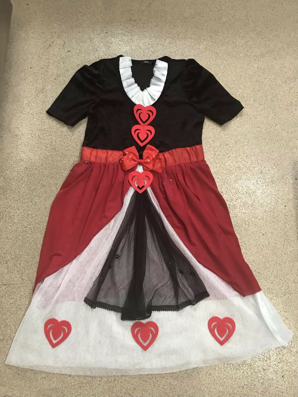 Girls Kids Queen Of Hearts Costume World Book Day Outfit