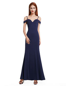 Ever-Pretty Navy Blue Prom Dress Formal Evening Gown Long Bridesmaid Dress 07017