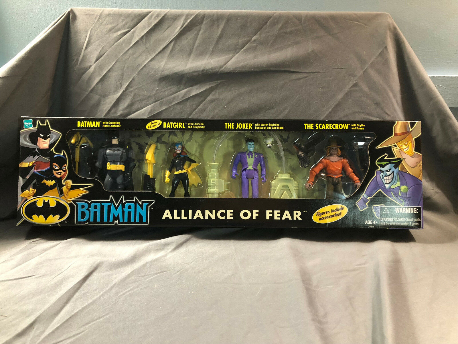 Hasbro Batman Alliance of Fear Joker Batgirl Scarecrow MIP Animated Series