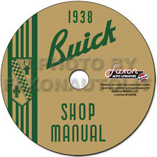 1938 Buick Shop Manual CD 38 Century Limited Roadmaster Special Repair Service