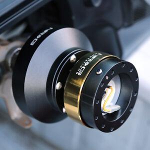 NRG Steering Wheel Short Hub Adapter Quick Release BK For Mazda Miata RX7 RX8