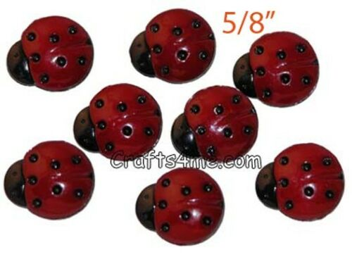 """12 Ladybug Buttons Sewing Buttons 5//8/"""" FEL2009"""