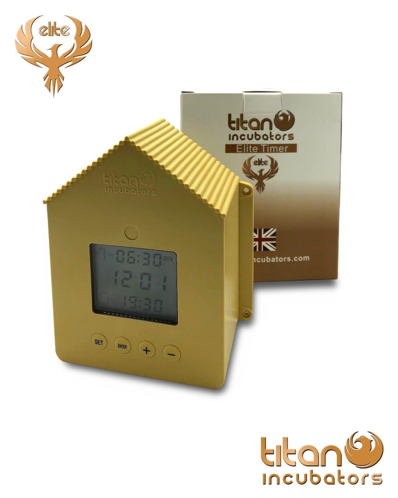 Elite Timer Automatic Chicken House House House   Coop Door Opener PLUS Elite Metal Door 593605