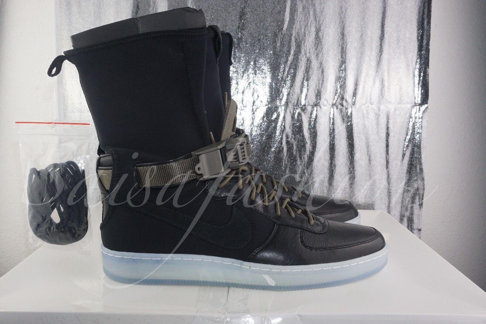 Nike X Acronym Air Force 1 AF1 Downtown HI SP Black Olive Clear 649941-003 Sz 11