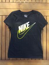 Nike HEART TAKER RECORD BREAKER Black//Cotton Girls T-Shirt Size S
