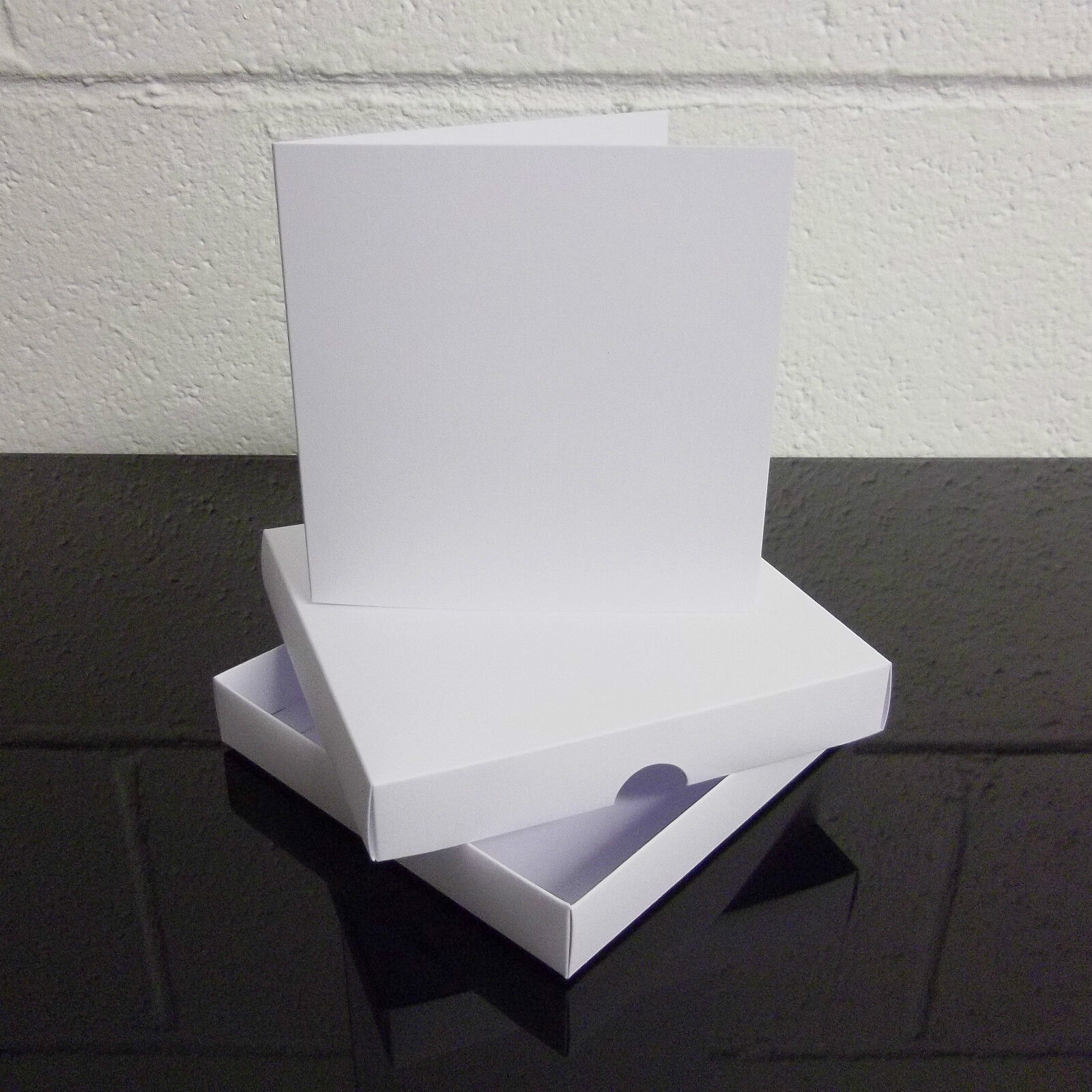 7  x 7  Weiß Greeting Card Box   Wedding Invite Box With Cards Choose Quantity