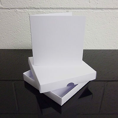 "5/"" x 7/"" White Greeting Card Box Wedding Invite Box With Cards Choose Quantity"