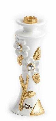 Candeliere Candelabro Via Veneto Ceramica Oro Oggetti Soprammobile Arredo Casa