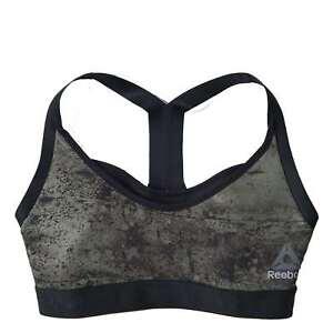 fc93d749198c0 Details about NEW Reebok Athletic Women s Combat 2-IN-1 Bra Racer-back  Sports Bralette