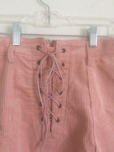 Nwt bordato Sz di velluto Lw in Xs Minigonna lino rosa 108 qfIc0WwA