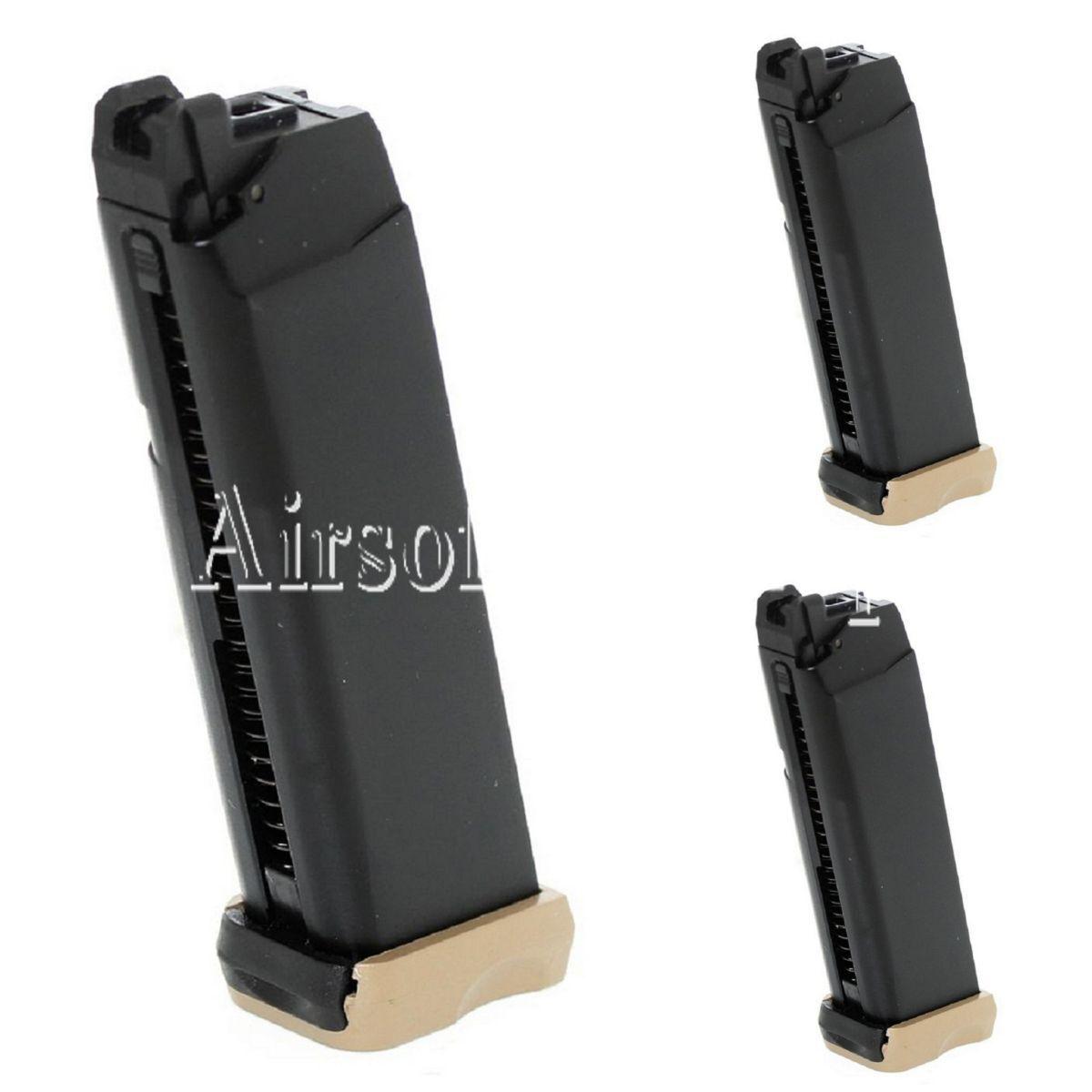 Revista Airsoft Aps 3 un. 23rd Co2 para pistola de combate de acción ACP601 Negro Oscuro Tierra